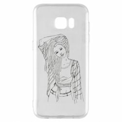 Чехол для Samsung S7 EDGE Girl with dreadlocks