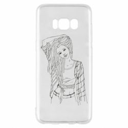 Чехол для Samsung S8 Girl with dreadlocks