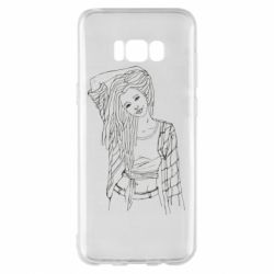 Чехол для Samsung S8+ Girl with dreadlocks
