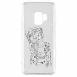 Чехол для Samsung S9 Girl with dreadlocks