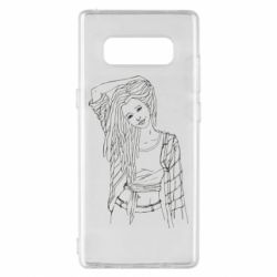 Чехол для Samsung Note 8 Girl with dreadlocks