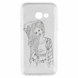 Чехол для Samsung A3 2017 Girl with dreadlocks