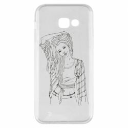 Чехол для Samsung A5 2017 Girl with dreadlocks