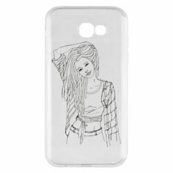 Чехол для Samsung A7 2017 Girl with dreadlocks