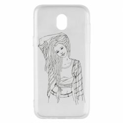 Чехол для Samsung J5 2017 Girl with dreadlocks