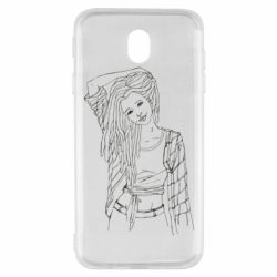 Чехол для Samsung J7 2017 Girl with dreadlocks