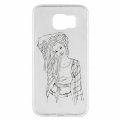 Чехол для Samsung S6 Girl with dreadlocks