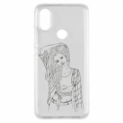 Чехол для Xiaomi Mi A2 Girl with dreadlocks
