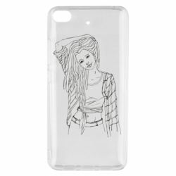 Чехол для Xiaomi Mi 5s Girl with dreadlocks