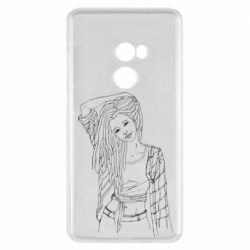 Чехол для Xiaomi Mi Mix 2 Girl with dreadlocks