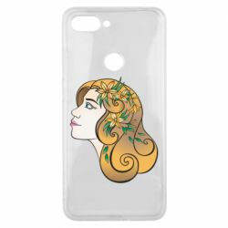 Чехол для Xiaomi Mi8 Lite Girl with flowers in her hair art