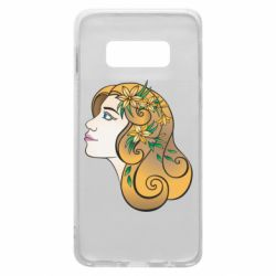 Чехол для Samsung S10e Girl with flowers in her hair art
