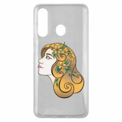 Чехол для Samsung M40 Girl with flowers in her hair art