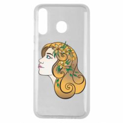 Чехол для Samsung M30 Girl with flowers in her hair art