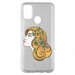 Чехол для Samsung M30s Girl with flowers in her hair art