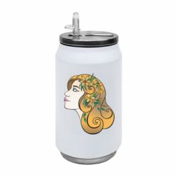 Термобанка 350ml Girl with flowers in her hair art