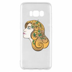 Чехол для Samsung S8 Girl with flowers in her hair art