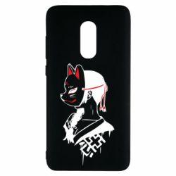 Чехол для Xiaomi Redmi Note 4 Girl with kitsune mask