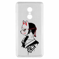Чехол для Xiaomi Redmi Note 4x Girl with kitsune mask