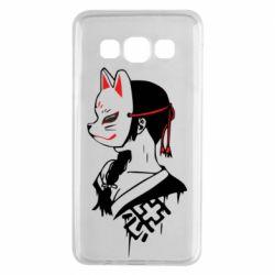 Чехол для Samsung A3 2015 Girl with kitsune mask