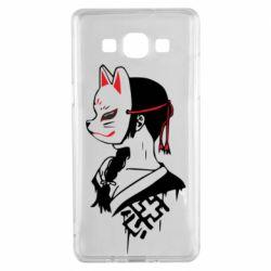 Чехол для Samsung A5 2015 Girl with kitsune mask