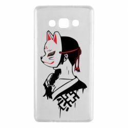 Чехол для Samsung A7 2015 Girl with kitsune mask