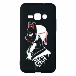 Чехол для Samsung J1 2016 Girl with kitsune mask