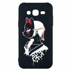 Чехол для Samsung J5 2015 Girl with kitsune mask