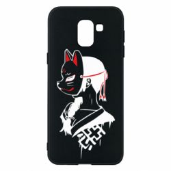 Чехол для Samsung J6 Girl with kitsune mask