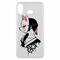 Чехол для Samsung A6s Girl with kitsune mask