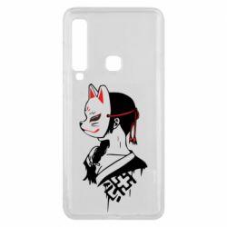 Чехол для Samsung A9 2018 Girl with kitsune mask