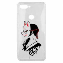 Чехол для Xiaomi Mi8 Lite Girl with kitsune mask
