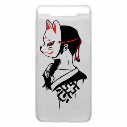 Чехол для Samsung A80 Girl with kitsune mask