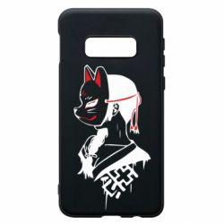 Чехол для Samsung S10e Girl with kitsune mask