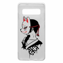 Чехол для Samsung S10 Girl with kitsune mask
