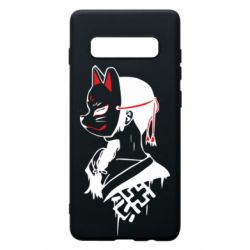 Чехол для Samsung S10+ Girl with kitsune mask