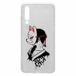 Чехол для Xiaomi Mi9 Girl with kitsune mask