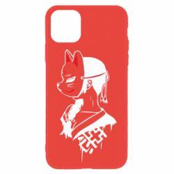 Чехол для iPhone 11 Girl with kitsune mask