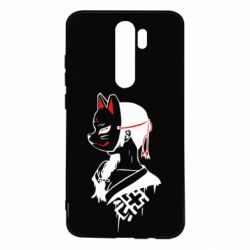 Чехол для Xiaomi Redmi Note 8 Pro Girl with kitsune mask
