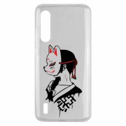 Чехол для Xiaomi Mi9 Lite Girl with kitsune mask