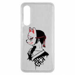 Чехол для Xiaomi Mi9 SE Girl with kitsune mask