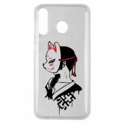 Чехол для Samsung M30 Girl with kitsune mask
