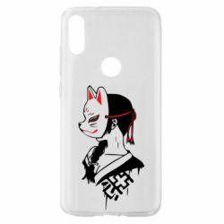 Чехол для Xiaomi Mi Play Girl with kitsune mask