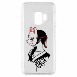 Чехол для Samsung S9 Girl with kitsune mask