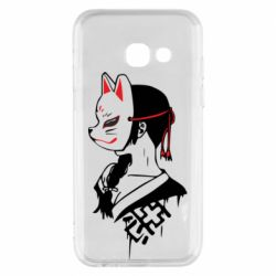 Чехол для Samsung A3 2017 Girl with kitsune mask