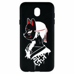 Чехол для Samsung J7 2017 Girl with kitsune mask