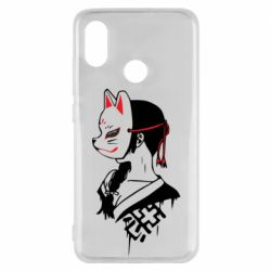 Чехол для Xiaomi Mi8 Girl with kitsune mask