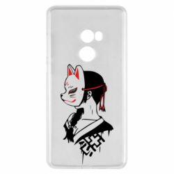 Чехол для Xiaomi Mi Mix 2 Girl with kitsune mask