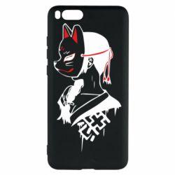 Чехол для Xiaomi Mi Note 3 Girl with kitsune mask