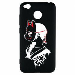 Чехол для Xiaomi Redmi 4x Girl with kitsune mask